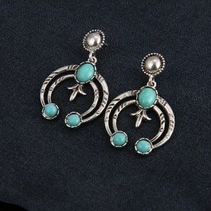 Boho Style Silver Color Crescent Earrings